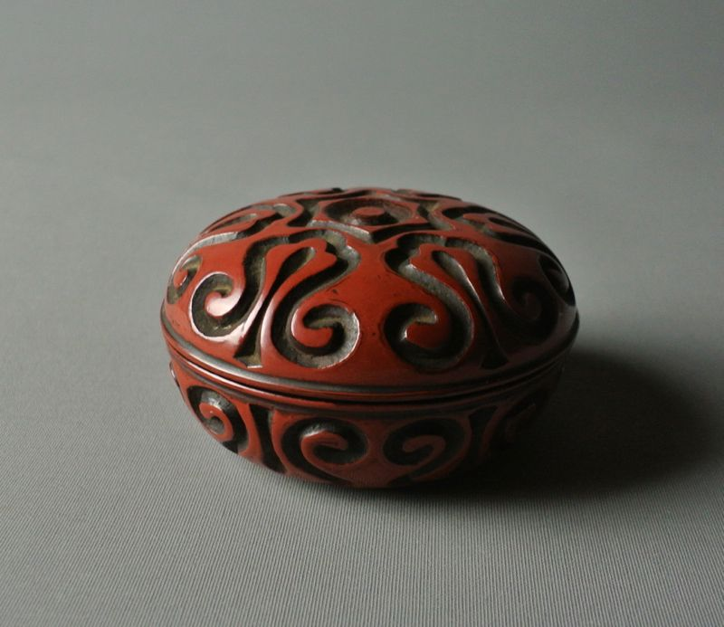 Japanese Wooden Lacquer Incense Container