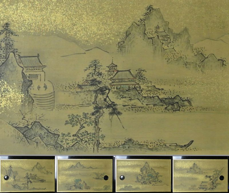Japanese Landscape Picture Small Fusuma