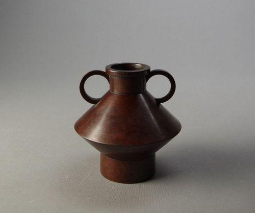 Japanese Bronze Vase by Iahikawa Yoshio