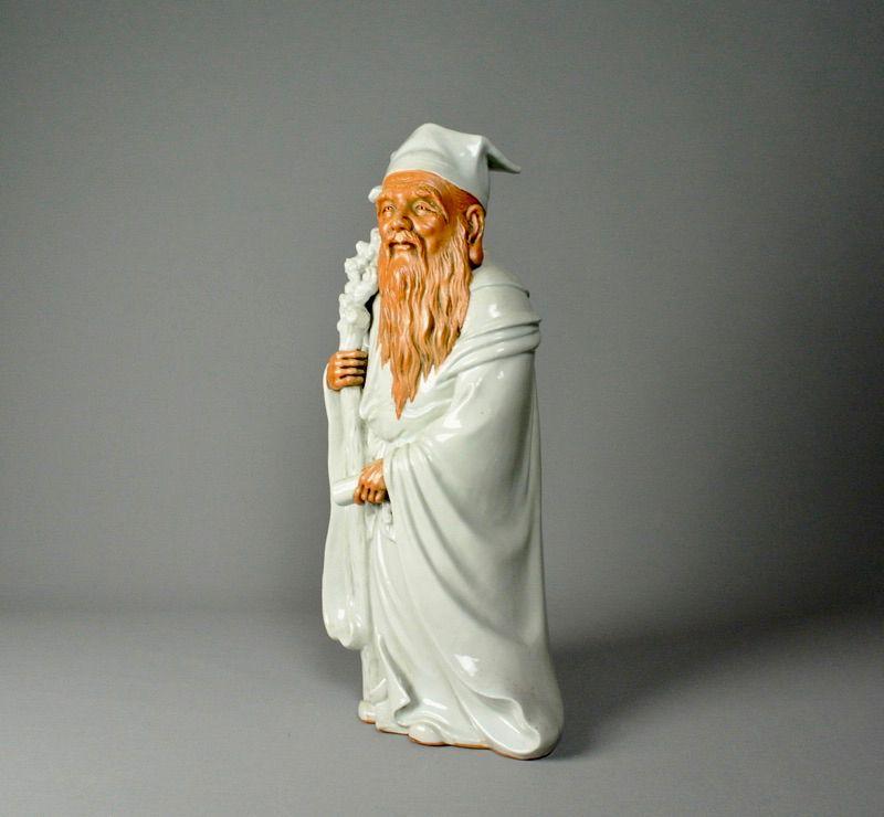 Japanese Porcelain Statue Jurojin
