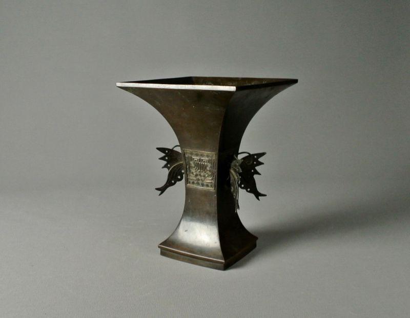 Japanese Bronze Rikka Vase