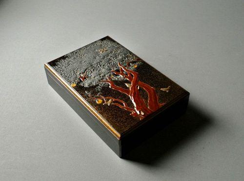 Japanese Lacquer Taka-makie Suzuri-bako