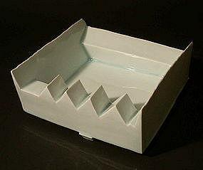 Japanese White Porcelain Object, Yoshikawa Masamichi