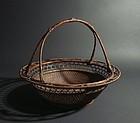 Japanese Bamboo Basket by Chikuunsai I