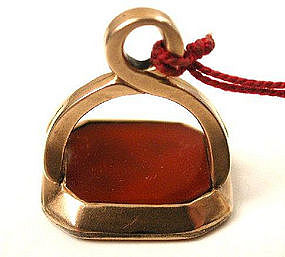 Fob of Sir Charles Morgan c 1800, Carnelian