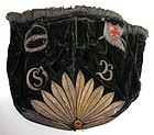 18th C Embroidered Green Velvet Gaming Purse