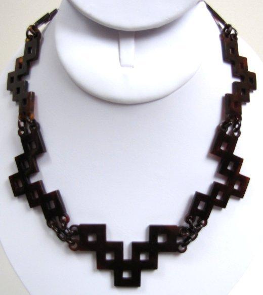 Fantastic Transitional Victorian Tortoiseshell Necklace