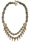 Fine Austro-Hungarian Silver and Red Stone Necklace