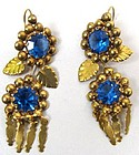 Lovely Antique Gold Day/Night Earrings