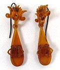 Fantastic, All Original, Victorian Horn Earrings