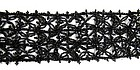 Fantastic Length of Antique Jet Beaded Trim, 72 Inches