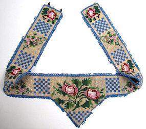 Charming Antique Beaded Belt, Flowers