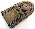 Tiny Embroidered Pouch, Persian, 19th C