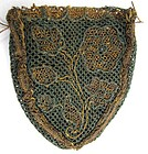 Beautiful 18th C Netted Lace Stitch Purse