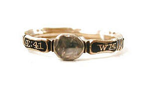 Rare Mid 18th-Century Mourning Ring, c 1734