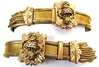 Pair of Victorian Gold Filled Mesh Slide Bracelets