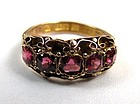 Striking Early Victorian Pink Garnet Ring, Circa 1840