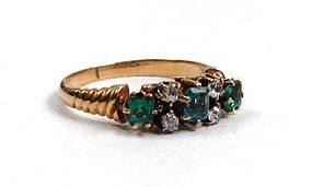 Stunning Victorian Emerald and Diamond Ring, ca 1890