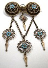 Antique Filigree Solje Booch, Marius Hammer of Norway