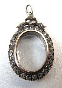Beautiful Early Victorian Paste Locket