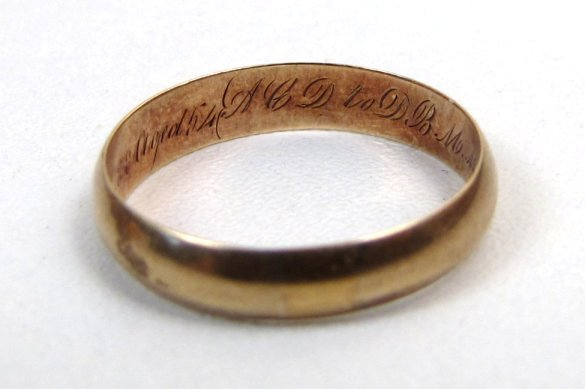 Gold Georgian Ring, Love Token and Mourning