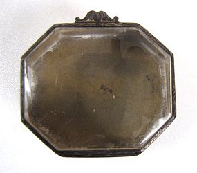 Octagonal 18th C Continental Silver Reliquary Box