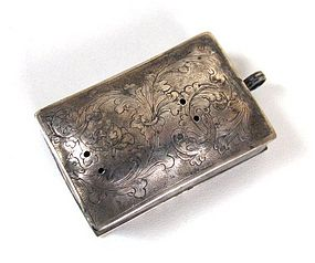 Rectangular 18th C Silver Reliquary Locket