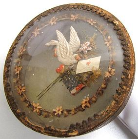 Lovely Georgian Dragee Box, Dove, Heart