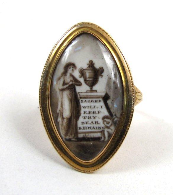 "Georgian Mourning Ring, ""Sacred Will I Keep Thy.."""