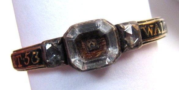 Rare George II Memento Mori Ring, Skull, 1735