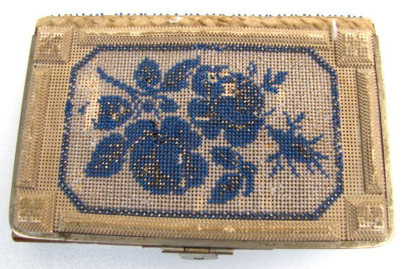 Victorian Beaded and Punchwork Covered Book