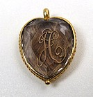 Beautiful Stuart Crystal Heart Pendant, Gold Initials