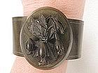 19th Century Mourning Bracelet Cuff Vulcanite