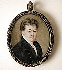 American School Portrait Miniature Lewis 1835