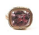 Unusual 19th C Fob Seal -- Amethyst Stone