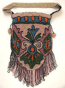 Spectacular Deco Art Nouveau Beaded Purse