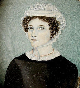 Portrait Miniature of Lady, Early 19th C