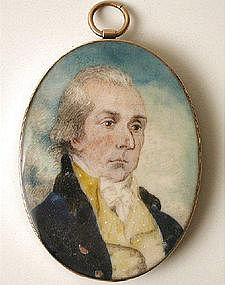 Mourning Portrait Miniature of Gentleman 1820