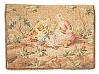 Fine Antique Tapestry Wool Purse, Lovers!