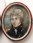 Portrait Miniature, English Officer, 1800