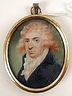 Miniature Portrait, Man Pink Hair, Henry Bone