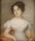 Portrait Miniature of Lovely Woman, c 1835