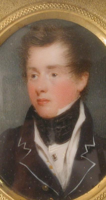 Portrait Miniature of Handsome Gent, ca 1800