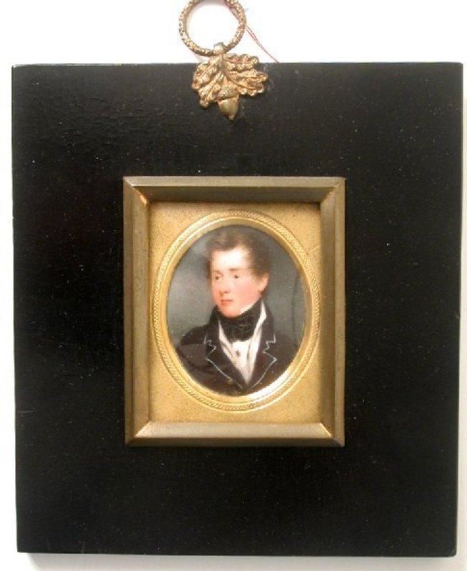 Portrait Miniature of Handsome Gent, ca 1800