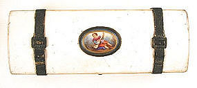Antique Trinket Box with Miniature of Boy