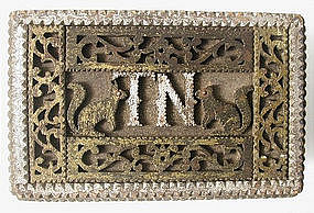 Superb 19th C Folk Art Box, Fretwork