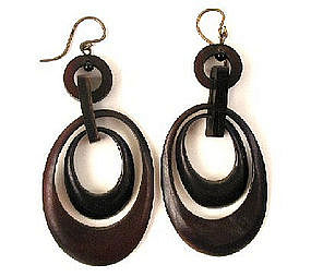 Articulated Victorian Tortoiseshell Earrings