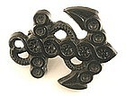 Victorian Jet Brooch, Anchor