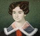Fine Portrait Miniature of Young Lady, 1835, American