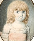 Charming Portrait Miniature of Girl, by Redmond, 1775